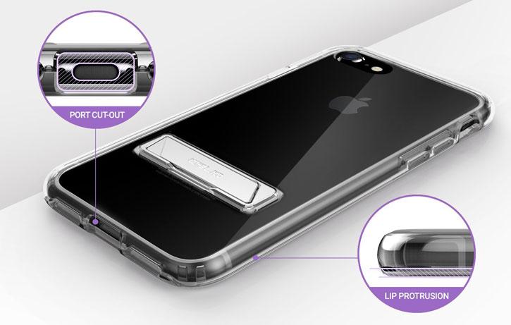 Obliq Naked Shield iPhone 7 Case - Smoke Black