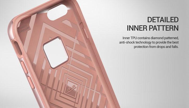 Obliq Slim Meta iPhone 7 Plus Case - Rose Gold