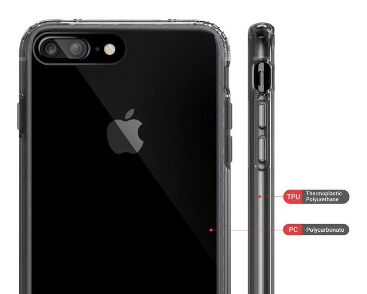 Obliq Naked Shield iPhone 7 Plus Case - Smoke Black