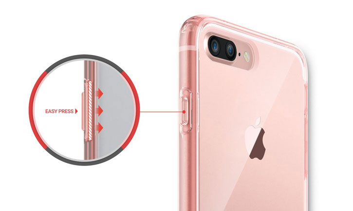 Obliq Naked Shield iPhone 7 Plus Case - Rose Gold