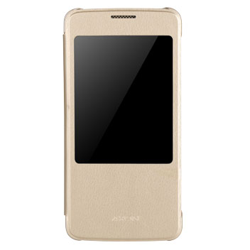 Official ZTE Axon 7 View Flip Case - Gold