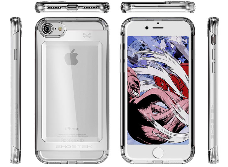 Ghostek Cloak 2 Series iPhone 7 Aluminium Tough Case - Clear / Silver