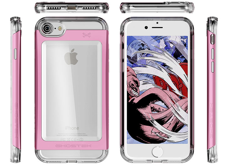 Ghostek Cloak 2 Series iPhone 7 Aluminium Tough Case - Clear / Pink