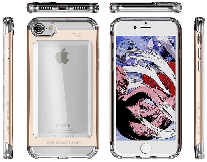 Ghostek Cloak 2 Series iPhone 7 Aluminium Tough Case - Clear / Gold