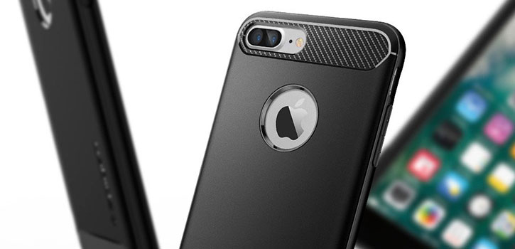 Spigen Rugged Armor iPhone 7 Plus Case - Black
