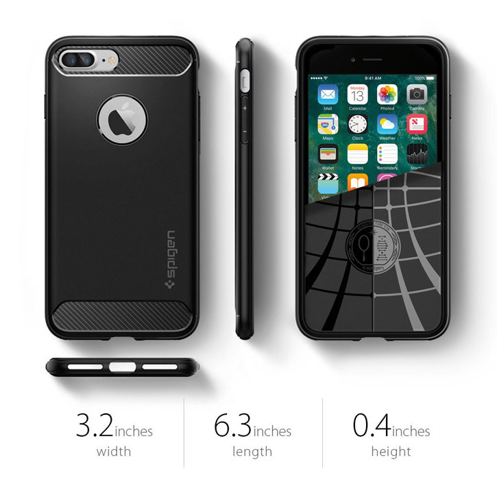Spigen Rugged Armor iPhone 7 Plus Case - Black