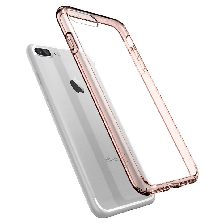 Spigen Ultra Hybrid iPhone 7 Plus Bumper Case - Rose Crystal