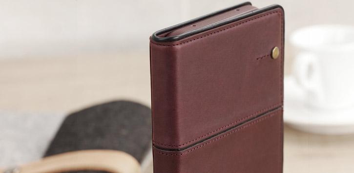 STIL Toscano Wine Genuine Leather iPhone 7 Plus Wallet Case - Burgundy