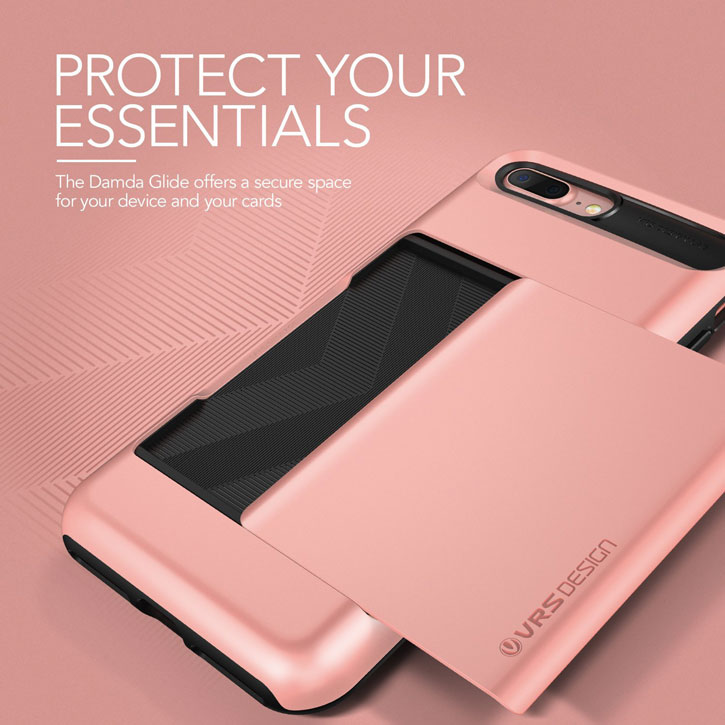 VRS Design Damda Glide iPhone 7 Plus Case - Rose Gold