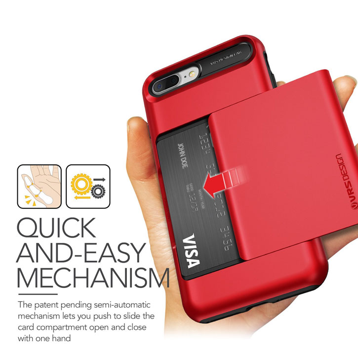 VRS Design Damda Glide iPhone 7 Plus Case - Apple Red