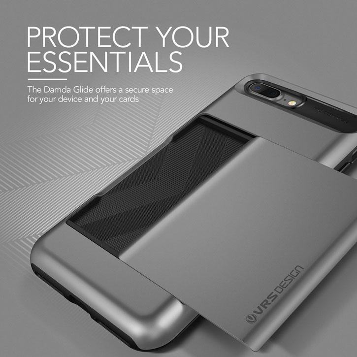 VRS Design Damda Glide iPhone 7 Plus Case - Steel Silver