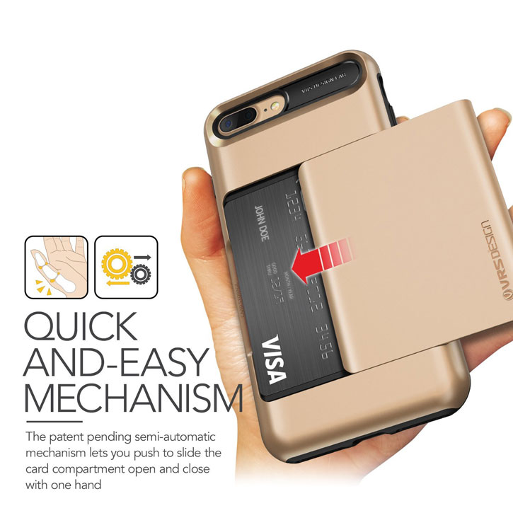 VRS Design Damda Glide iPhone 7 Plus Case - Shine Gold