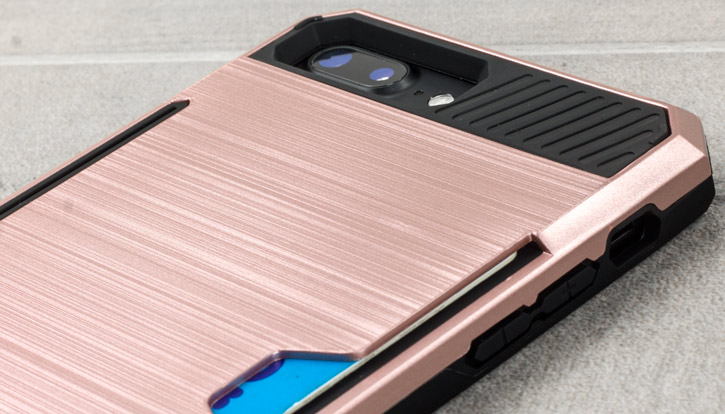 Zizo Metallic Hybrid Card Slot iPhone 7 Plus Case - Rose Gold