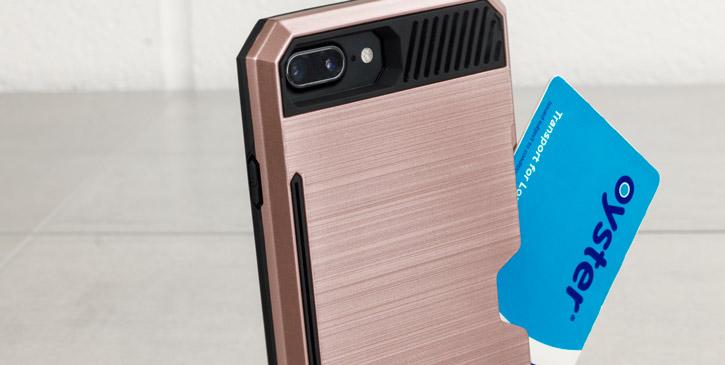 Zizo Metallic Hybrid Card Slot iPhone 7 Plus Case - Rose Gold