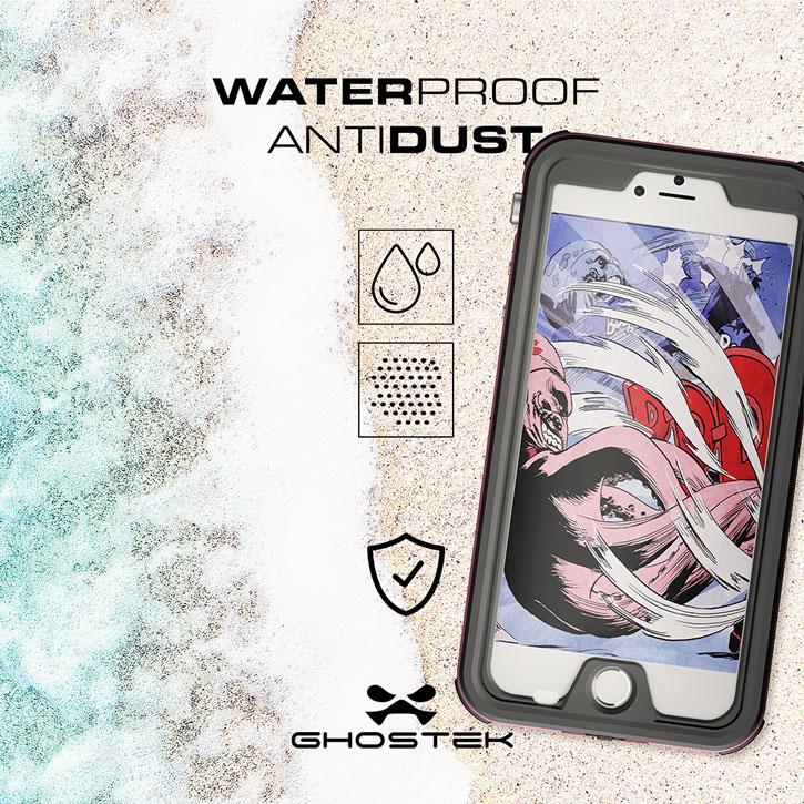 Ghostek Atomic 3.0 iPhone 7 Plus Waterproof Tough Case - Pink