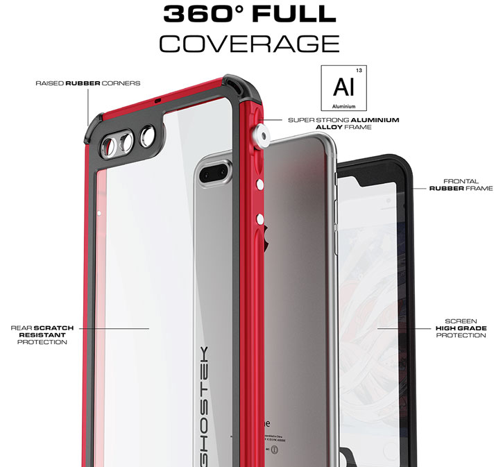 action it's ghostek atomic 3 0 iphone 7 plus waterproof tough case red
