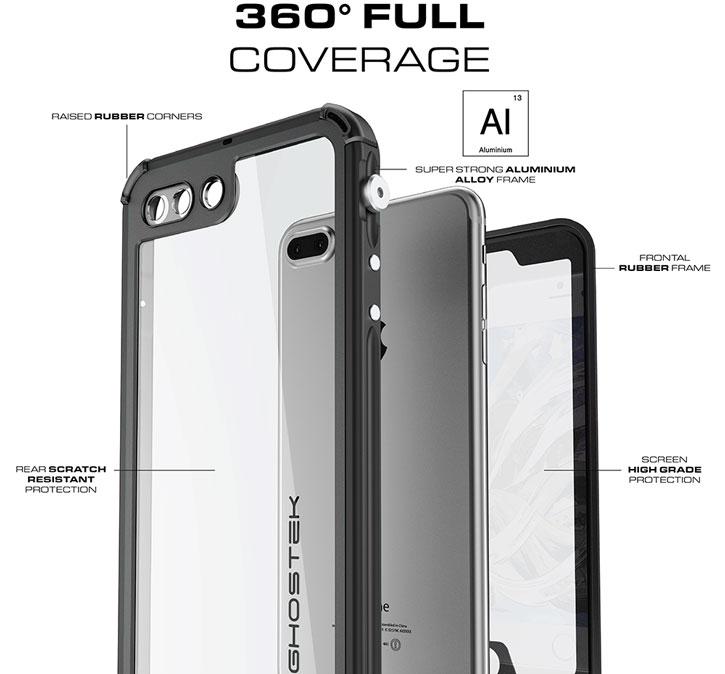Ghostek Atomic 3.0 iPhone 7 Plus Waterproof Tough Case - Black