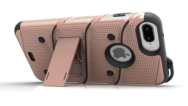 Zizo Bolt Series iPhone 7 Plus Tough Case & Belt Clip - Rose Gold