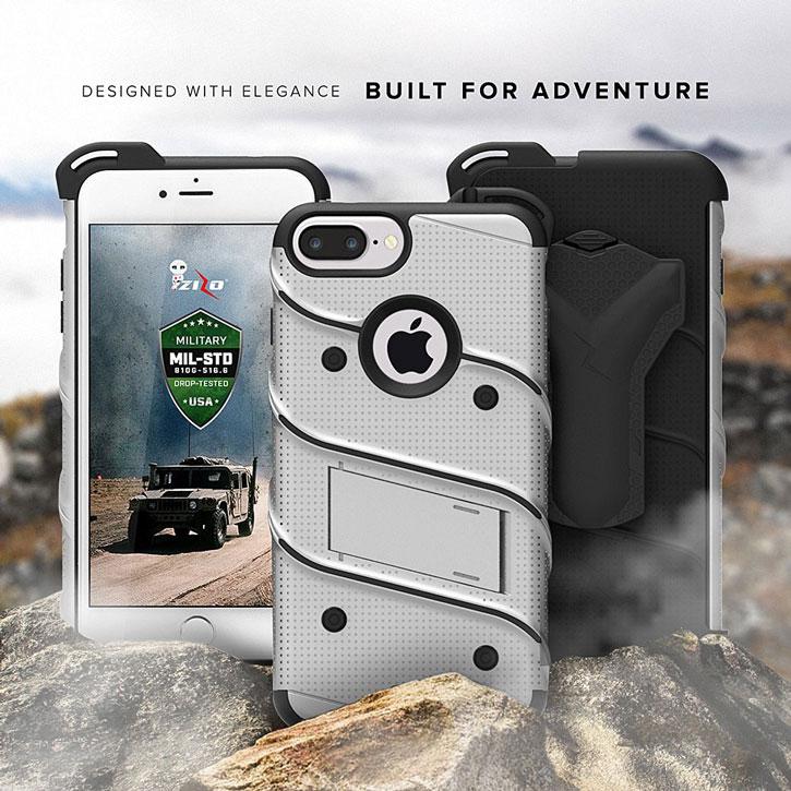Zizo Bolt Series iPhone 7 Plus Tough Case & Belt Clip - Grey