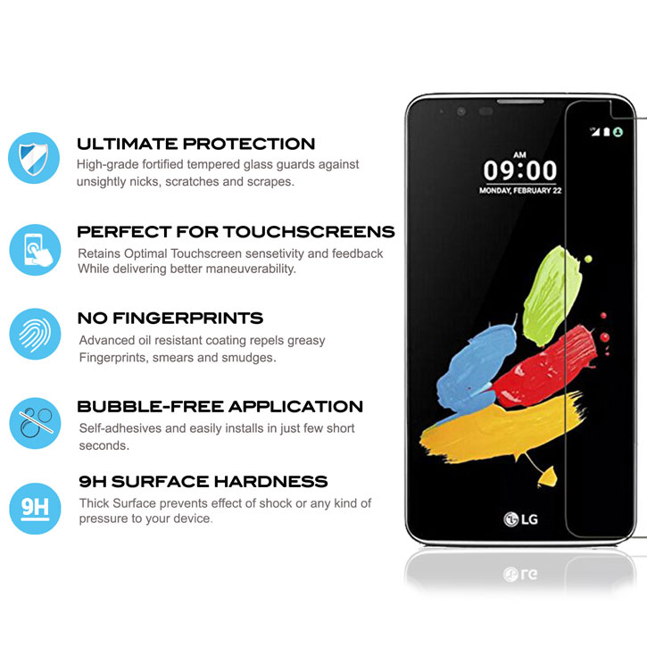 Zizo Lightning Shield LG Stylo Plus 2 Tempered Glass Screen Protector