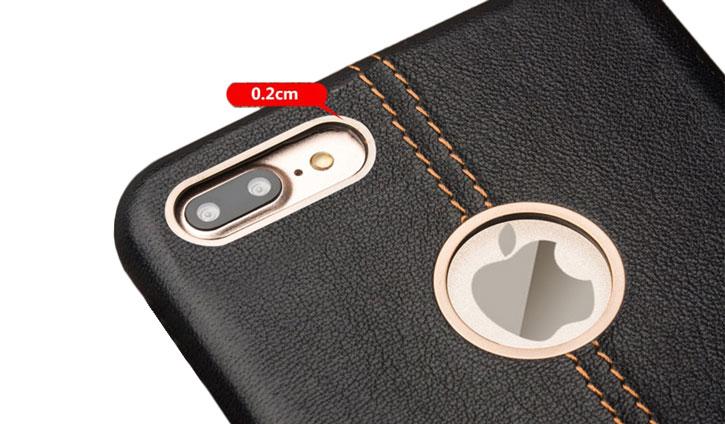 Premium Handmade Genuine Leather iPhone 7 Plus Case - Black