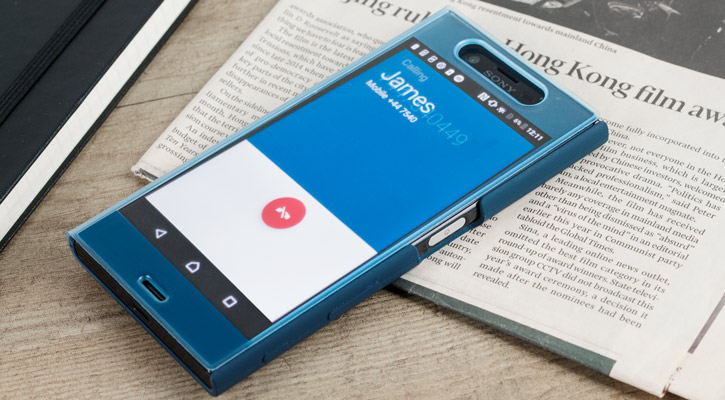 Official Sony Xperia XZ Style Cover Touch Case - Forest Blue