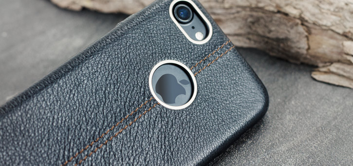 Premium Handmade Genuine Leather iPhone 7 Case - Black