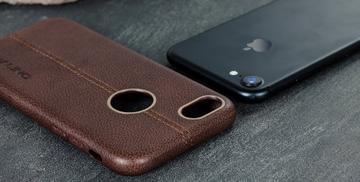 Premium Handmade Genuine Leather iPhone 7 Case - Brown
