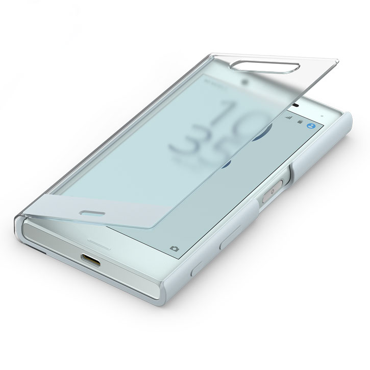 Official Sony Xperia X Compact Style Cover Touch Case - Mist Blue