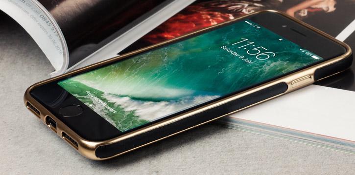 Olixar Makamae Leather-Style iPhone 7 Case - Black