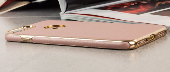 Olixar Makamae Leather-Style iPhone 7 Plus Case - Rose Gold