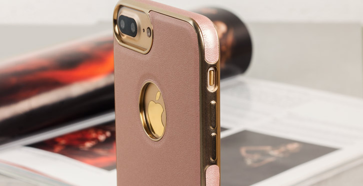 Olixar FlexiLeather iPhone 7 Plus Case - Rose Gold