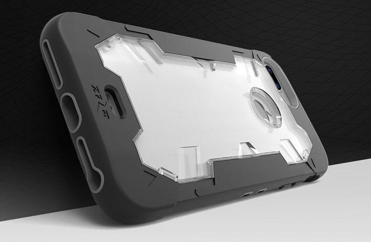 Zizo Proton iPhone 7 Plus Tough Holster Case - Black / Clear