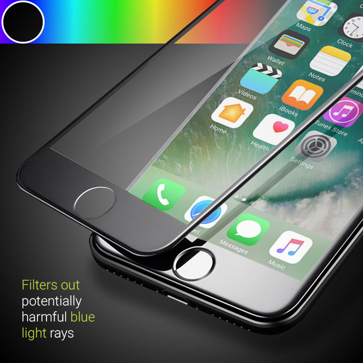 Olixar iPhone 7 Anti-Blue Light Edge To Edge Glass Screen Protector