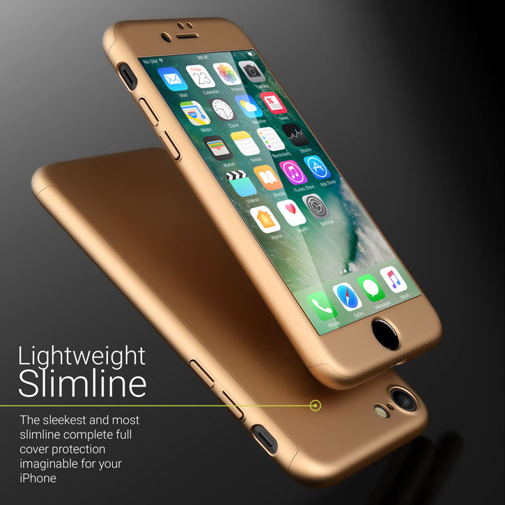 Olixar X-Trio Full Cover iPhone 7 Case - Gold