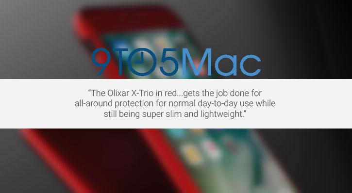 Olixar X-Trio Full Cover iPhone 7 Case - Red