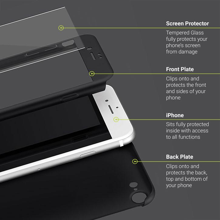 Olixar X-Trio Full Cover iPhone 7 Plus Case - Black
