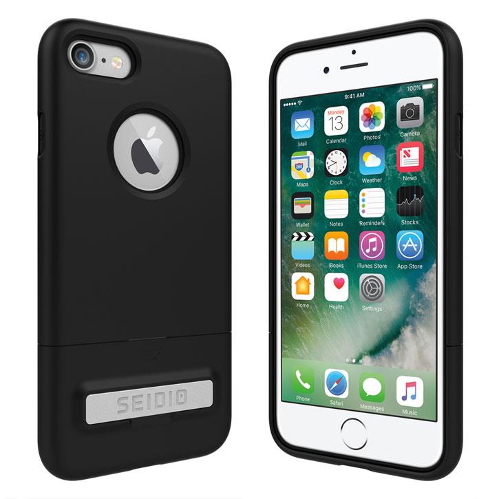 Seidio SURFACE IPhone 7 Case & Metal Kickstand - Black