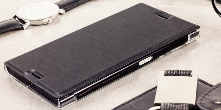 Roxfit Premium Sony Xperia XZ Book Case - Black / Clear