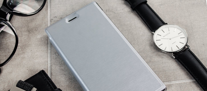 Roxfit Premium Sony Xperia XZ Book Case - Silver / Clear