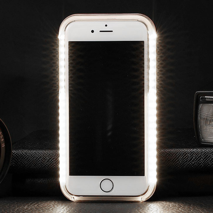 Casu iPhone 7 LED - Ljus - Selfie Skal - Svart