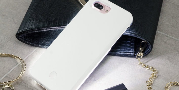 Casu iPhone 7 Plus Selfie LED Light Case - White