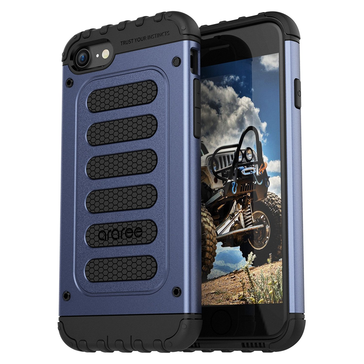 Araree Wrangle Force IPhone 7 Rugged Case - Gravity Blue
