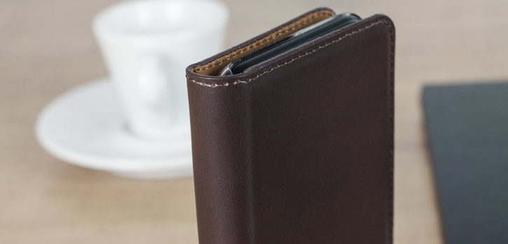 Olixar Genuine Leather iPhone 8 / 7 Executive Wallet Case - Brown