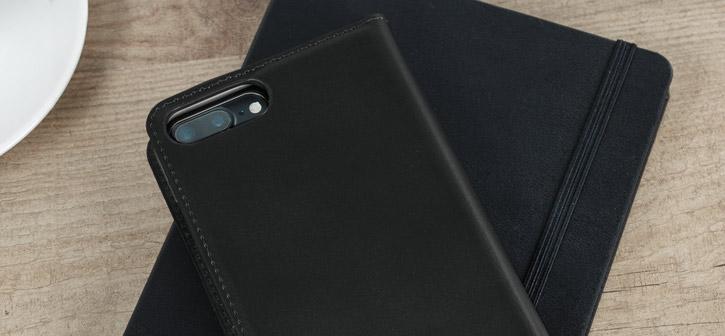 Olixar Genuine Leather iPhone 8 / 7 Plus Executive Wallet Case - Black