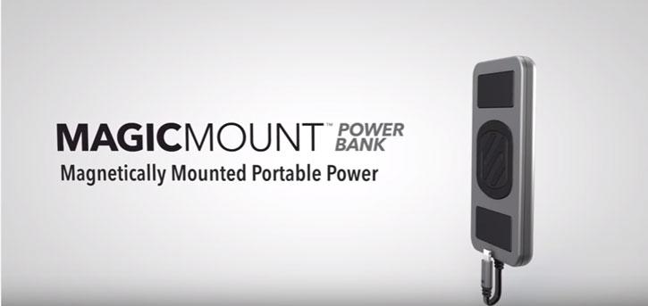 Scosche MagicMount Magnetic 4000mAh Micro USB PowerBank - Black