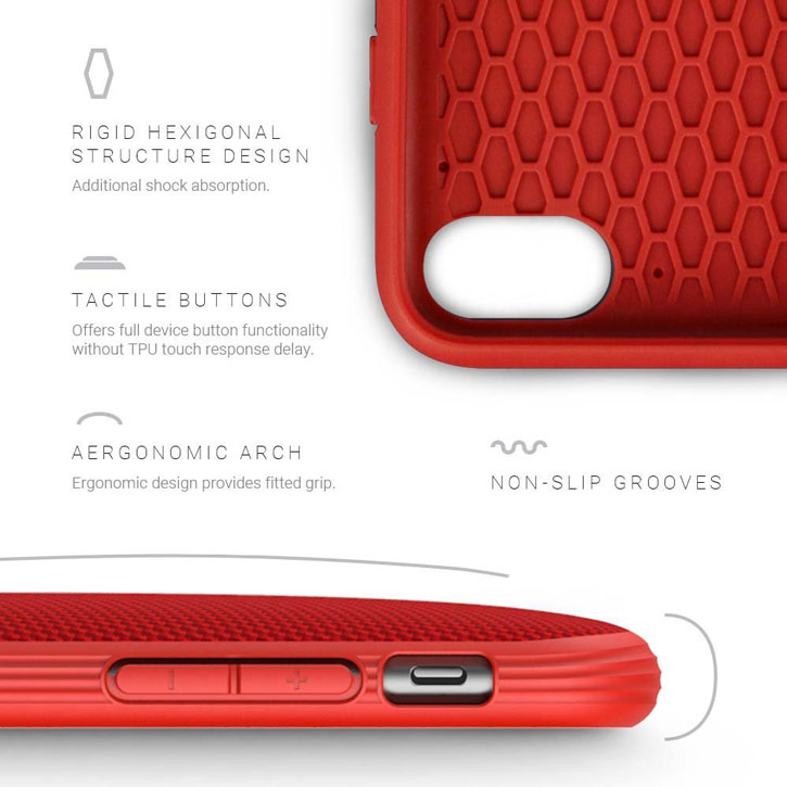 Evutec AERGO Ballistic Nylon iPhone 7 Tough Case - Red