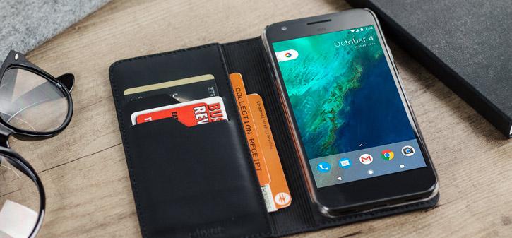 34b3e179e019 Olixar Genuine Leather Google Pixel XL Wallet Case - Black