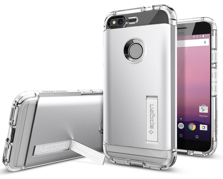 Spigen Tough Armor Google Pixel Case - Satin Silver