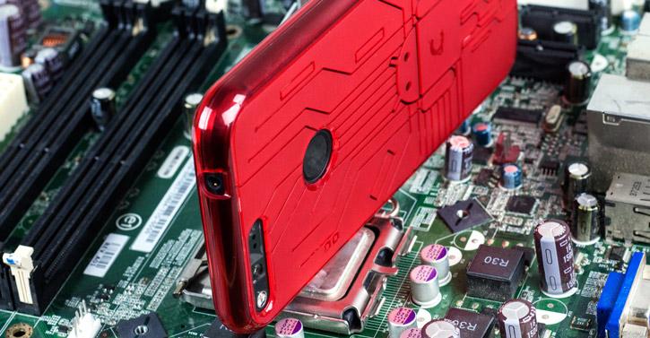 Cruzerlite Bugdroid Circuit Google Pixel Case - Red